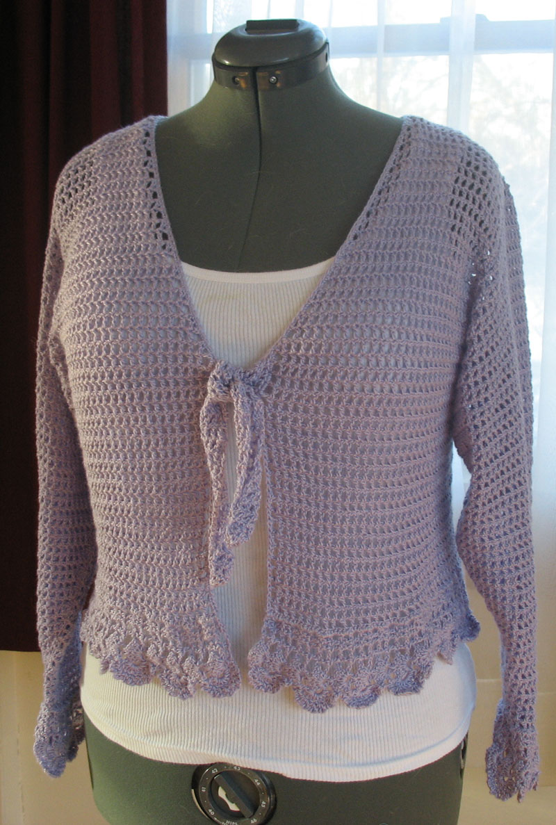 free crochet las shrug pattern