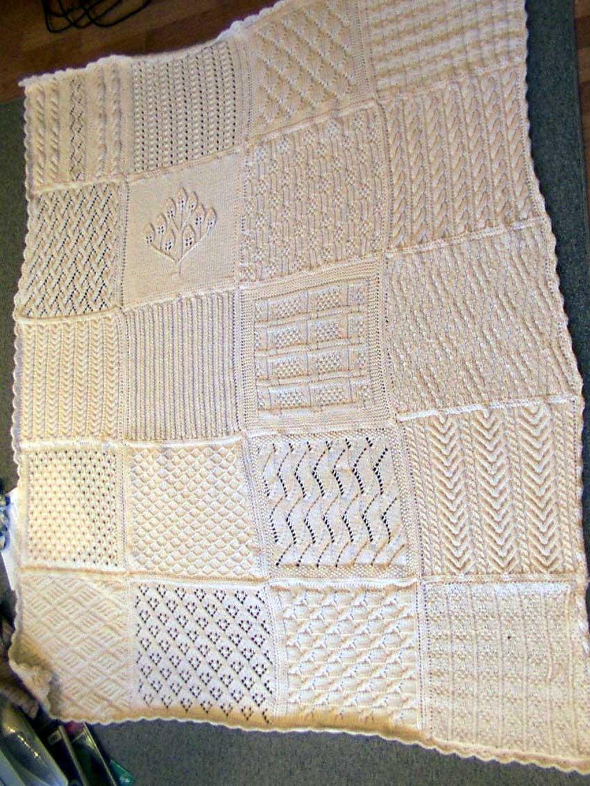 Knitting Park Cream Sampler Afghan Square 41