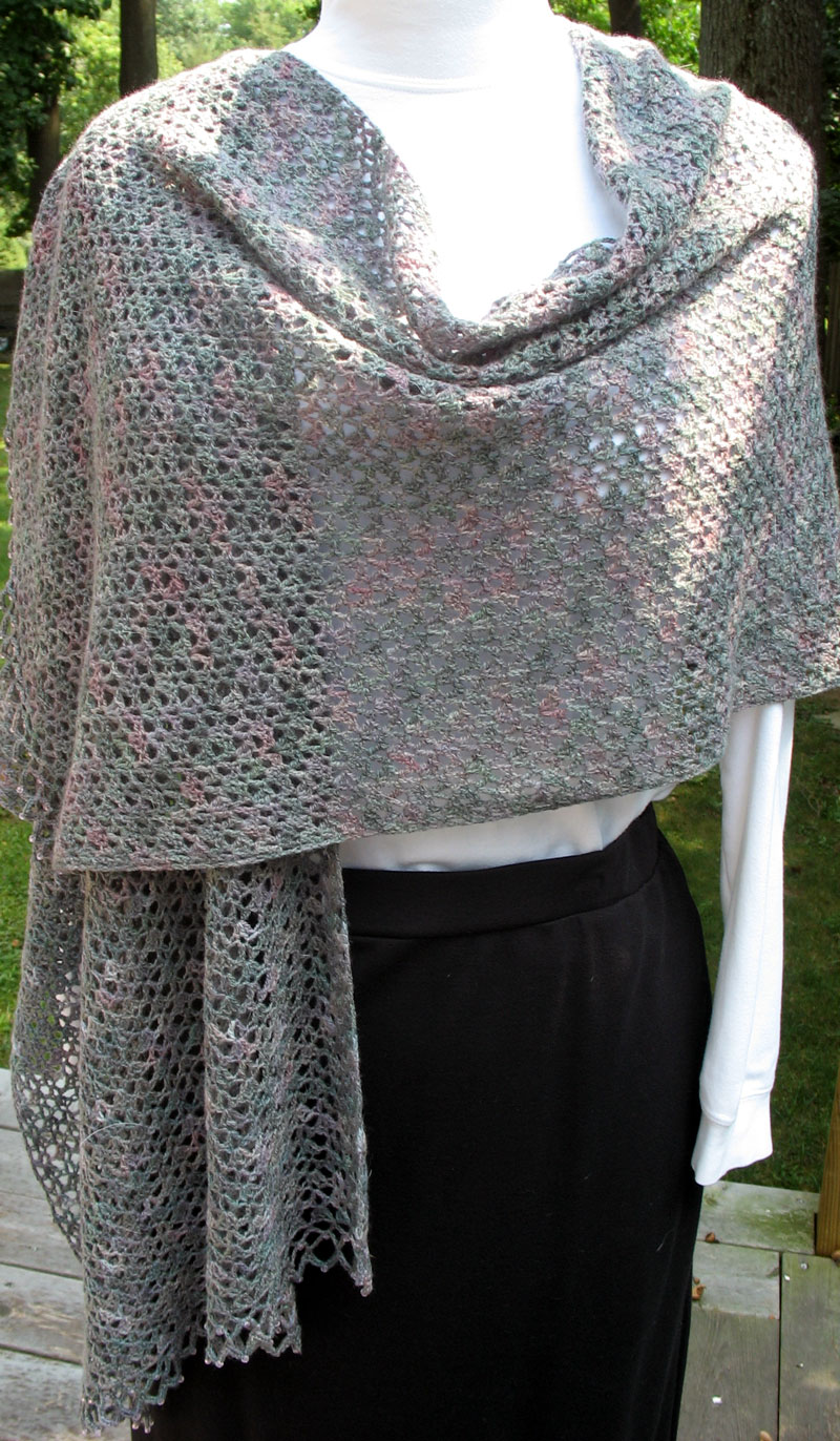Crochet Shawl Pattern : lace crochet shawl click to enlarge i blocked the lace shawl yesterday ...